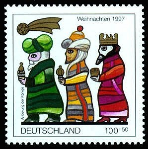 German epiphany postage stamp